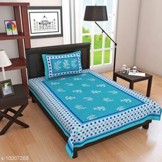 Checkout this latest Bedsheets Product Name: *C Green Goli 1 Single Bedsheet with 1 Pillow Cover* Fabric: Cotton No. Of Pillow Covers: 1 Thread Count: 140 Multipack: Pack Of 1 Sizes: Single (Length Size: 100 in, Width Size: 63 in, Pillow Length Size: 18 in, Pillow Width Size: 26 in)  Country of Origin: India Easy Returns Available In Case Of Any Issue   Catalog Rating: ★4 (269)  Catalog Name: Elite Alluring Bedsheets CatalogID_1787368 C53-SC1101 Code: 313-10007268-546