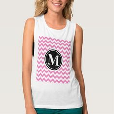 Persian Pink Pattern with Monogram Flowy Muscle Tank Top Tank Tops