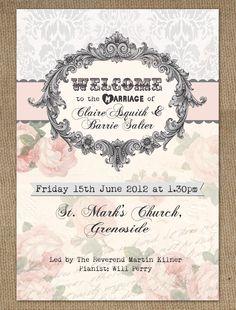 Jubilee Wedding Invitation 70 for 20 invites Sewing ideas
