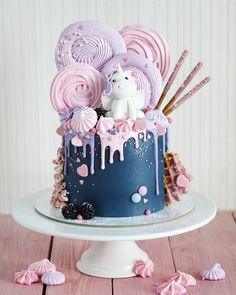 Ideas Cake Decorating Ideas Buttercream Girls For 2019 Creative Birthday Cakes, Birthday Cake Girls, Creative Cakes, Princess Birthday, Unicorn Birthday, Unicorn Cale, Birthday Cupcakes, Birthday Ideas, Pretty Cakes