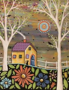 Love this Karla Gerard Spring Eve Wrapped Canvas on Acrylic Canvas, Canvas Wall Art, Canvas Prints, Karla Gerard, Indigenous Art, Home Art, Painted Rocks, Art Drawings, Art Projects