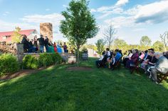 outdoor winery wedding ceremony | Brad & Matt's Laid Back Wedding at the Winery at Bull Run in Virginia | Images: Chamberlin Photography