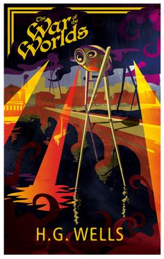 'The War of the Worlds' (H.G. Wells) cover illustration by Stewart Harris, via Behance