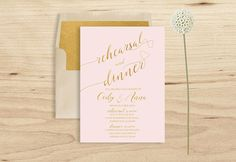 Pink Rehearsal Dinner Invitation Printable Blush by PucciPaperie
