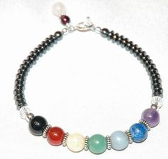 Sterling Silver Gemstone Chakra Bracelet | YMCJewelry - Jewelry on ArtFire