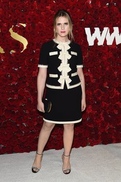 Lily-Rose Depp Joins Karl Lagerfeld at WWD Honors Event!: Photo Lily-Rose Depp is all smiles while joining legendary fashion designer Karl Lagerfeld on the red carpet at the 2017 WWD Honors event at the Pierre Hotel on Tuesday… Bridal Make Up Inspiration, Hari Nef, Star Wars, Peplum Dress, Shirt Dress, Lily Rose Depp, Best Part Of Me, Karl Lagerfeld, Fashion Models