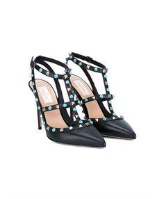 VALENTINO - Rockstud Ankle Strap Sandals