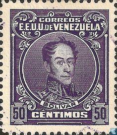 #Año1915 #Venezuela #Estampilla #SimónBolívar de Bs 0,50 (1 #Real) de #Correo