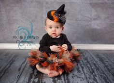 Halloween Tutu and Hat by ThisTutuShoppe on Etsy, $40.00