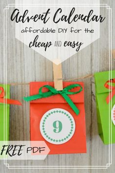 How to DIY an Advent Calendar When You're BUSY & CHEAP