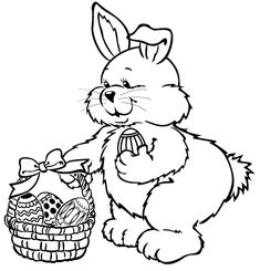 st. patrick's day coloring pages | Easter bunny coloring page