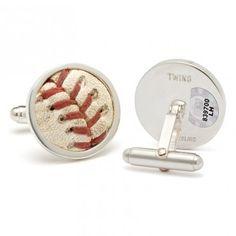 Minnesota Twins Game-Used Baseball Cufflinks