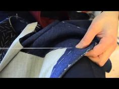 ▶ The Making of a Coat #14 Basting the Pockets and Front Edges - YouTube
