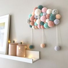 Learn How To Make Gorgeous Yarn Wrapped Letters Yarn Crafts For Kids, Diy Home Crafts, Baby Room Design, Baby Room Decor, Yarn Wrapped Letters, L Wallpaper, Pastel Home Decor, Baby Mobile, Pom Pom Crafts