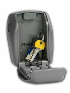 MasterLock Wall Mounted Reinforced Security Key Lock Box - http://www.hall-fast.com/-hand-tools/padlocks-door-locks-security-/safes-key-safes/key-safes-cash-boxes/masterlock-wall-mounted-reinforced-security-key-lock-box/