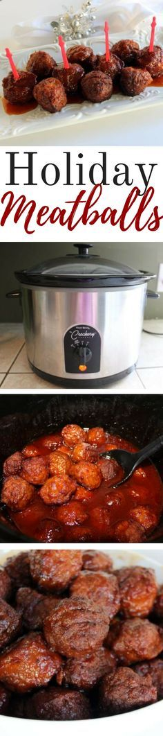 This is a quick and easy meatball recipe that will be great for any party - holiday, tailgate, game night... so many options. I used apple jelly and apple juice. I loved the flavors of the sweet apple combined with tangy chili sauce. #appetizers #crockpot #crockpotrecipes #meatballrecipes