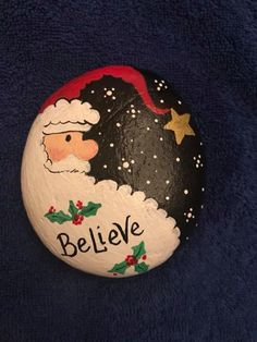 Learn how to make easy Christmas crafts for gifts for coworkers - holiday rock p. Learn how to make easy Christmas crafts for gifts for coworkers - holiday rock painting ideas! You can buy all the suppl. Rock Painting Patterns, Rock Painting Ideas Easy, Rock Painting Designs, Painted Christmas Ornaments, Christmas Crafts For Gifts, Craft Gifts, Christmas Decorations, Christmas Presents, Xmas