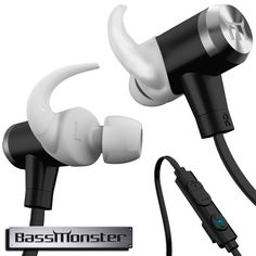 """BassMonster RX290 Wireless Bluetooth Headphones - Polished Silver. Meet The Feature-Packed BassMonster BLUETOOTH Earphones From USG®, Engineered With Durability And Comfort In Mind. LONG-LASTING Internal Battery (6 Hour Playback On A Single Charge). Reinforced """"TANGLE-FREE"""" Flat Cord Is Comfortable On The Skin Yet Resistant To Abrasion And Wear. MAGNETIC Closure Allows The Pair Rest Comfortably Around The Neck When Not In Use. Inline 3-Button Remote Provides CONVENIENT Playback And Volume..."""