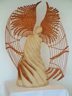 The Good Angel Clay Angel, The Better Angels, Fire Clay, Candle Holders, Wings, Weaving, Candles, Porta Velas, Candy