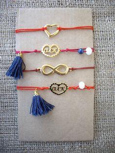 Bracelets with charms and tassels. Code: 22016/1 #jewelleryfromourheart #jewellery #thessaloniki #bracelet #charms #tassels #luck #infinity #heart #jewelry #accessories