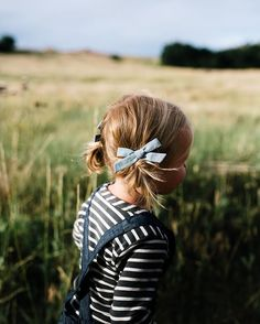 "It's time for an adventure. // ""90's Chambray"" schoolgirl pigtail set by Free Babes Handmade. Made with love in the USA, perfect for your littles free spirited style."