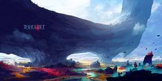DUELYST - AESTARIA, OBSIDIAN WOODS, Counterplay Games on ArtStation at https://www.artstation.com/artwork/rOyaa