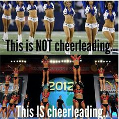 Wish people would realize that cheer is a sport! Dallas Cowboys cheerleaders are more of a dance team than cheerleaders. Wish people would realize that cheer is a sport! Dallas Cowboys cheerleaders are more of a dance team than cheerleaders. Cheer Qoutes, Cheerleading Quotes, Gymnastics Quotes, Cheer Sayings, Gymnastics Problems, Cheerleading Stunting, Gymnastics Skills, School Cheerleading, College Cheer