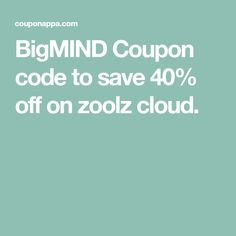 BigMIND Coupon code to save 40% off on zoolz cloud. Business Planning, Coupon Codes, Bro, Coupons, Coding, Clouds, How To Plan, Coupon, Programming
