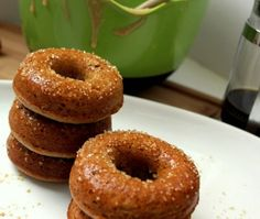 Gingerbread doughnuts - I think I need to make these tonight!