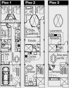 planos-de-casas-100m2- for the skinny ones-good ideas though.