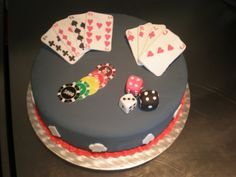 casino cake-easy decor for my mommys bday cake this wknd :)