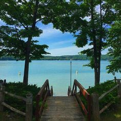 """A view of beautiful Walloon Lake"" in Michigan by karfar. Michigan Vacations, Michigan Travel, Lake Michigan, Wisconsin, Lake Cottage, Cottage Living, Lakeside Living, Rio, Northern Michigan"