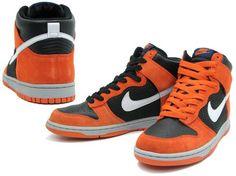 Nike Dunk High (Black/Neutral, Grey-Hoop Orange)