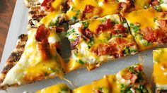A quick and easy grilled pizza with all the flavors of a loaded baked potato!