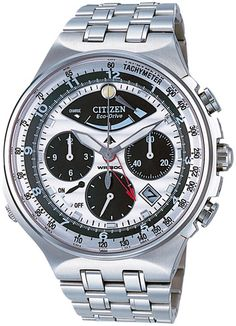 Citizen is a promaster chronograph watch that comes with a silver-white  dial and is powered by a Citizen Eco-Drive movement. 0c25d2e007
