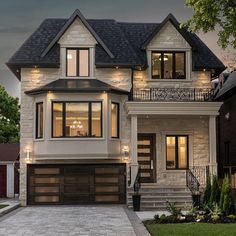 70 Most Popular Dream House Exterior Design Ideas – Ideaboz – Home – - Traumhaus Dream Home Design, Modern House Design, House Design Pictures, Modern Style Homes, Tiny House Design, Future House, My House, House Front, Small Cottage House