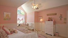 Girls Bedroom Decorating Ideas in Attic Room