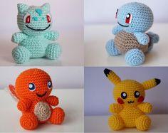 Crochet Pattern set of a Charmander Pikachu by JBcrochetwizard