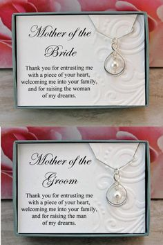 Mother of the Bride necklace gift from Groom Sterling silver infinity necklace Swarovski crystal pearl wedding necklaces, wedding jewelry - Mother of the Bride necklace gift from Groom Sterling silver Mother Of The Groom Necklaces, Mother Of The Groom Gifts, Wedding Gifts For Parents, Bride And Groom Gifts, Gifts For Wedding Party, Bridal Gifts, Mother Gifts, Our Wedding, Mother Necklace