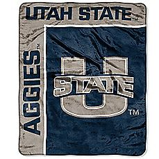 Utah State University Raschel Throw Blanket. You can never have too many blankets.