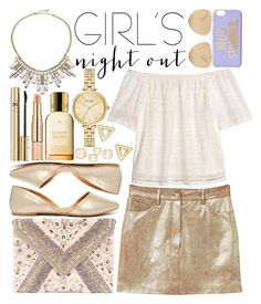 """""""Girls' Night Out: Summer Edition (2)"""" by estefanifashion on Polyvore featuring ABS by Allen Schwartz, Kate Spade, MANGO, H&M, Qupid, LULUS, Loewe, D&G, Estée Lauder and Mateo"""