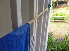 Litegear braided clothes line - great for drying off towel and swimsuit at the end of your day at the beach!