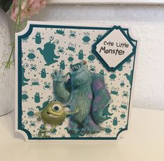 Disney Monsters, Monsters Inc, Little Monsters, Boy Cards, Lace Design, Little Boys, Card Ideas, Frame, Cute