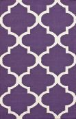 """Rugs USA Tuscan Trellis Flatweave I Rug    Available in this purple or a medium grey.   This is a 100% wool flatweave rug, so it is thinner (by design) and may be a little scratchy.    5' x 8' and 7' 6"""" x 9' 6"""""""