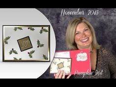 Stampin Up Paper Pumpkin November 2015. Mistletoe and Holly alternate project and video. ——— S U P P L I E S ———  • Paper Pumpkin monthly kits from Stampin' Up! • Past Paper Pumpkin Kits Available • Gold Foil Sheets #132622 • Basic Black 8-1/2X11 Card Stock #121045 • Basic Black Archival Stampin' Pad #140931 • Very Vanilla 8-1/2X11 Card Stock #101650 • Versamark Pad #102283 • Old Olive Stampin' Write Marker #100079 • Cherry Cobbler Dazzling Details