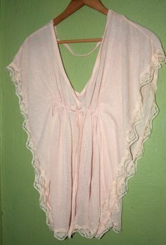 Nude lace cute easy sew shirt