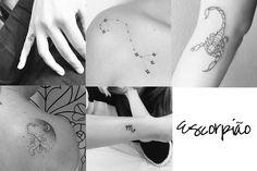 Tatuagem de signo escorpião