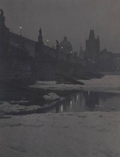 Winter in Prague by V.J.Bufka, 1910