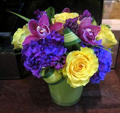 Eclectic magnificence - roses, hydrangea, hyacinth, and orchids