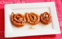 Chenna jalebi or Paneer Jalebi - an Indian sweet. Festive sweets and dessert of Bengal.